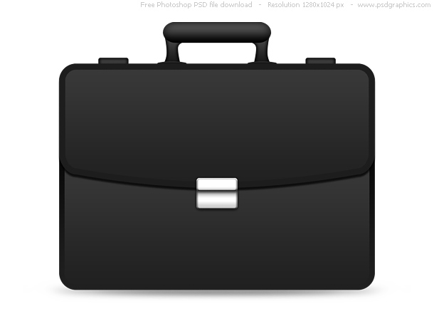 Briefcase Icon Black