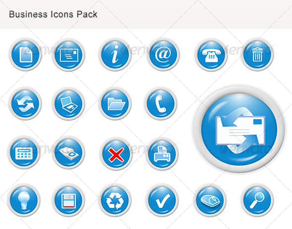 Business Web Graphics Icons