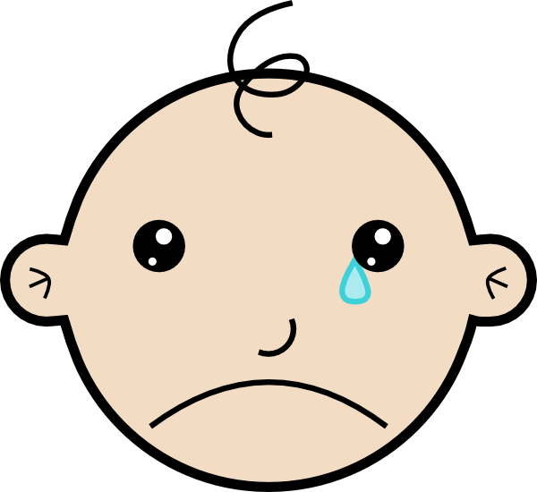Cartoon Baby Crying Clip Art