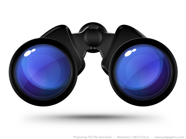 Cartoon Binoculars with Eyes