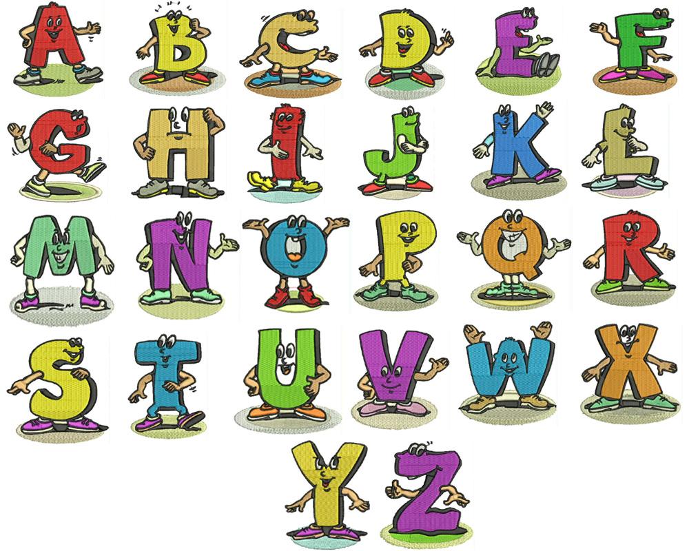 Cartoon Machine Embroidery Design Fonts