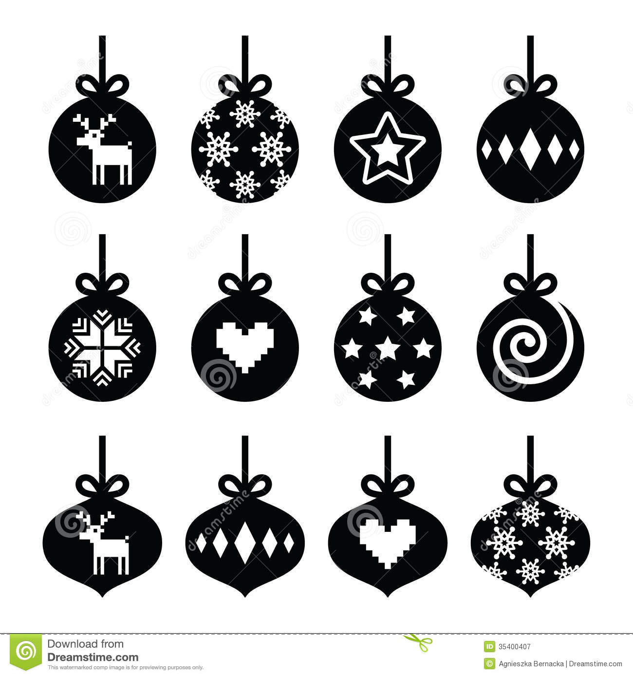Christmas Clip Art Black and White