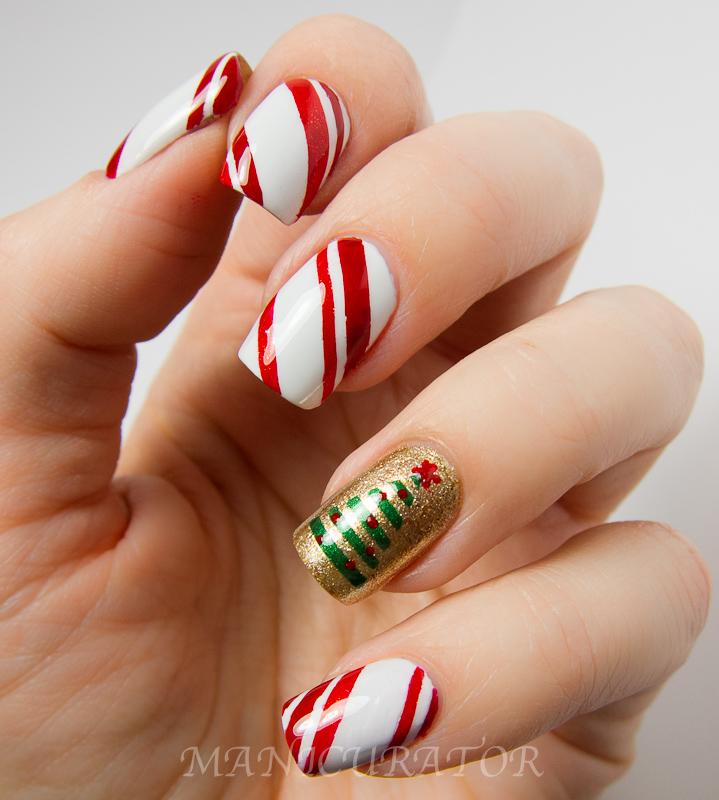 gel nail designs ideas christmas - Simple Christmas Nail Designs