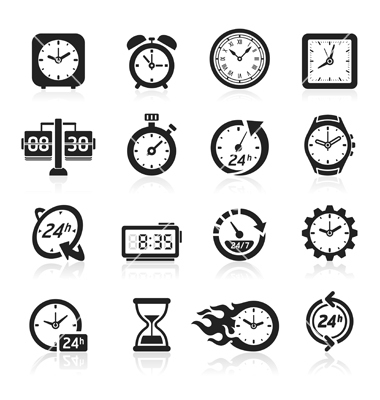Clock Icon Vector