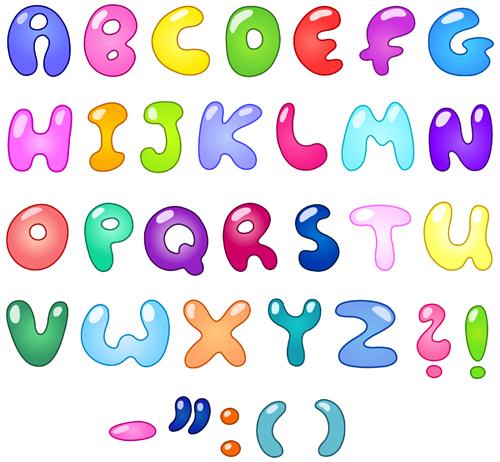 Colorful Bubble Letters