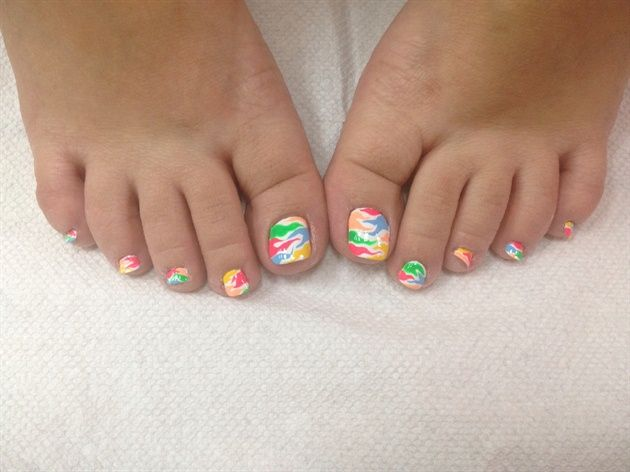 Colorful Toe Nail Designs 2015