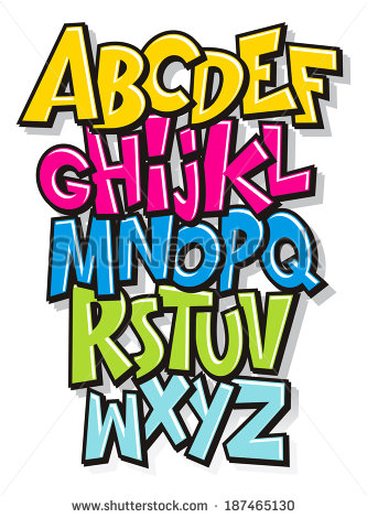 Comic Cartoon Font Alphabet Doodle Vector