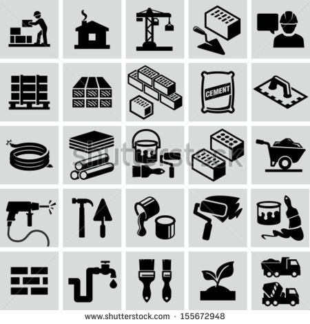 15 Construction Tool Material Icon Images