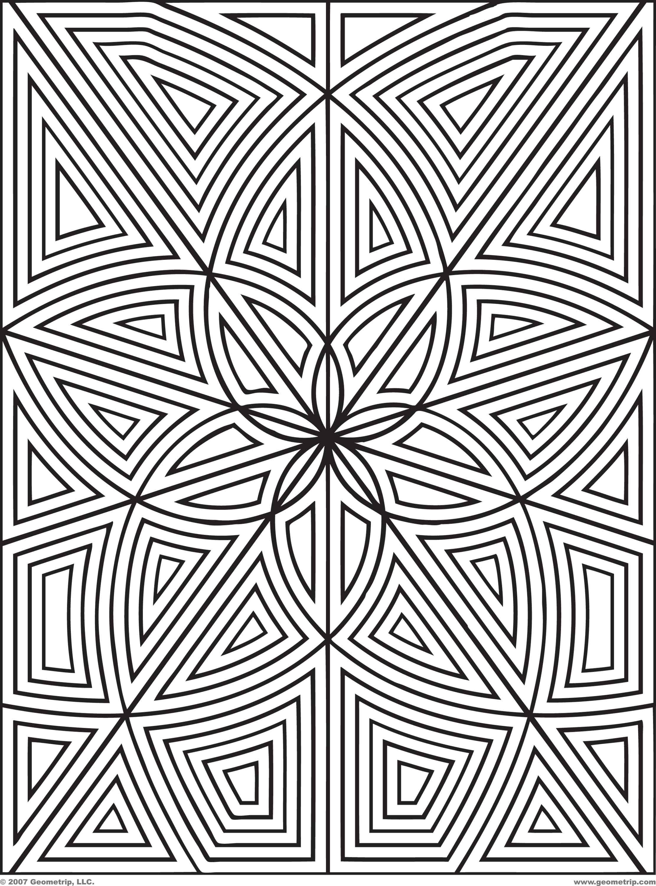 Coloring: Geometric Coloring Pages. Printable Geometric Coloring ... | 3000x2222