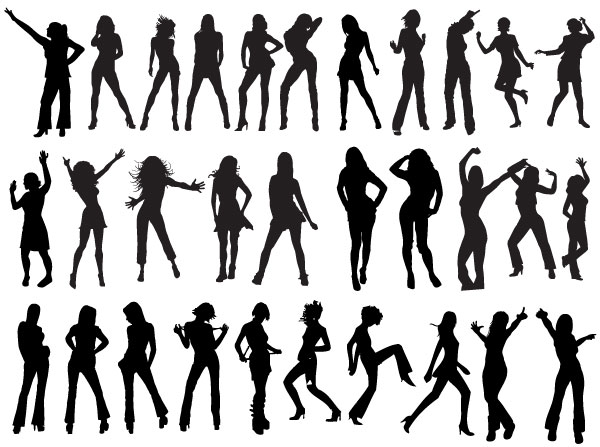 13 Free Vector Silhouettes Girls Images