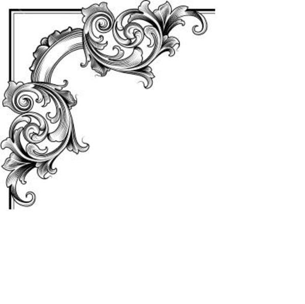 12 Decorative Corner Border Designs Images - Decorative ...
