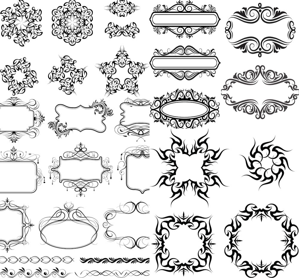 14 Ornamental Frame Vector Images