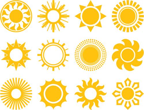 Design Elements Icons Sun