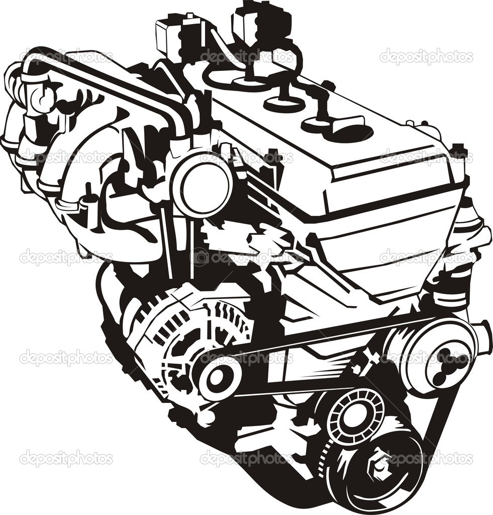 17 Super Car Engine Vector Images Vector W2 Vector