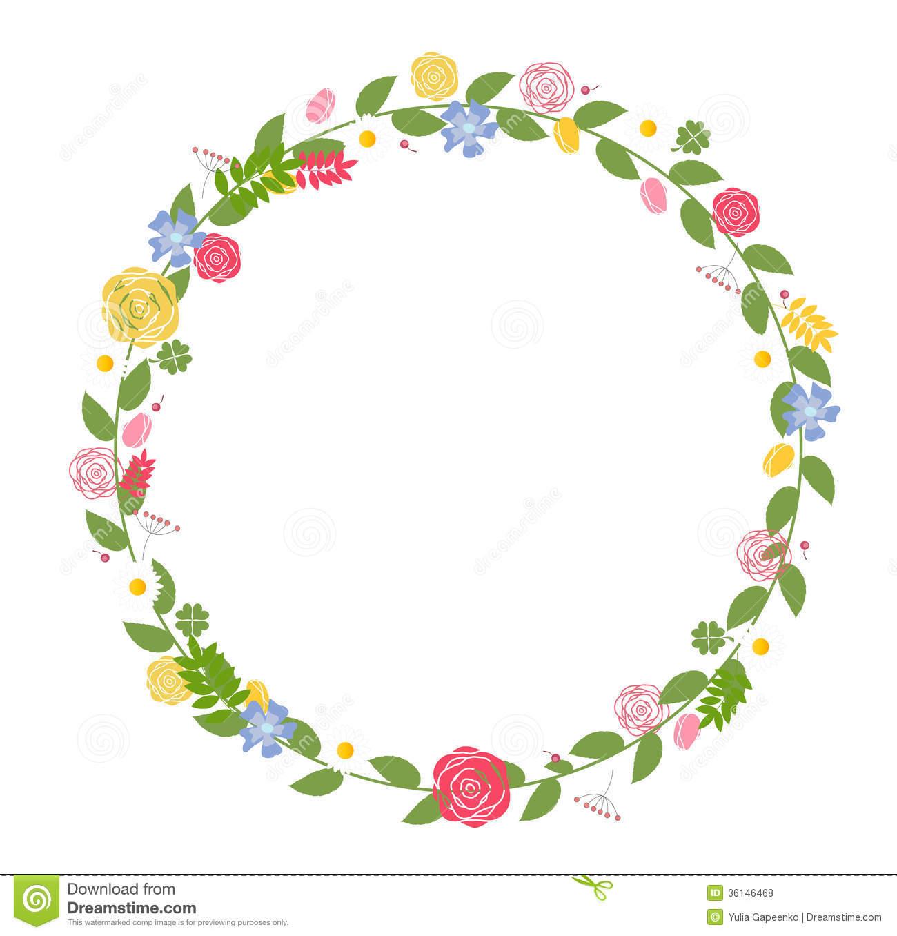 14 Flower Vector Floral Frame Images Vintage Floral
