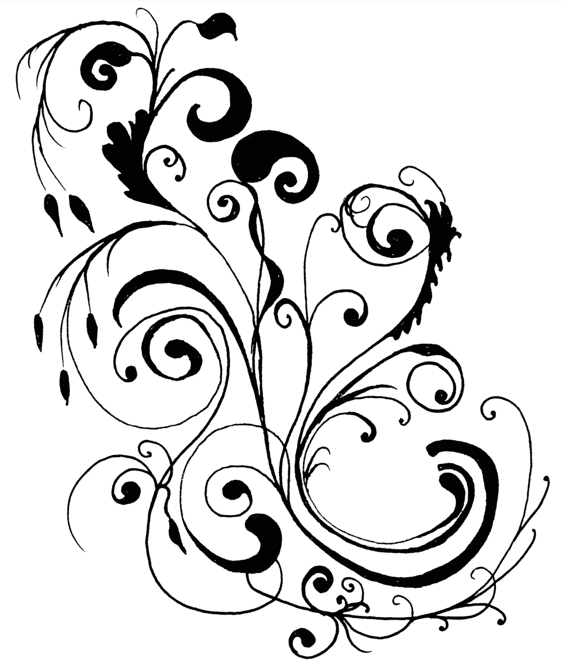 14 Free Clip Art Line Designs Images