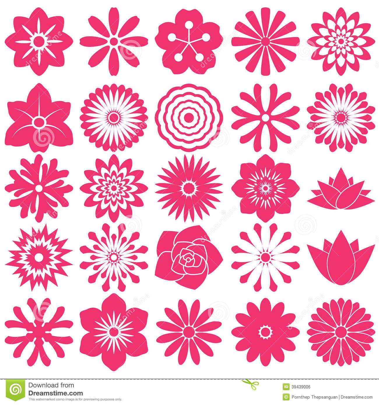 Flower Icons Symbols