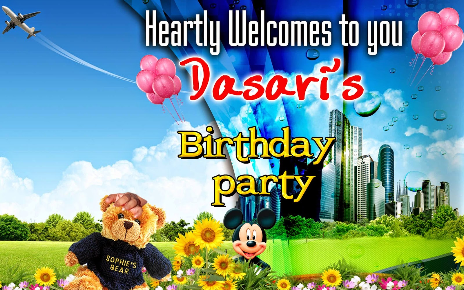 Free Birthday PSD Files for Download