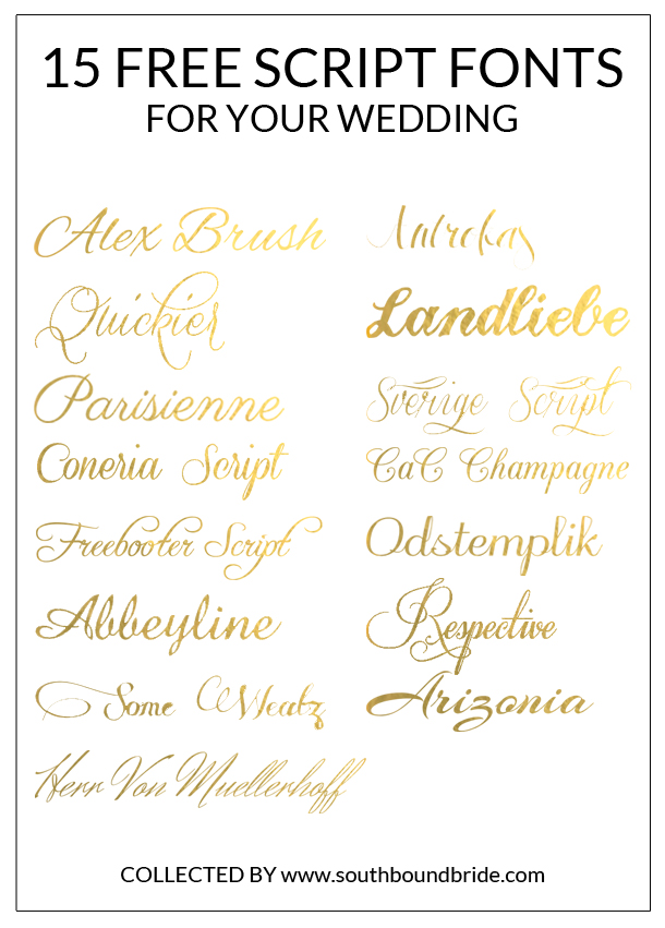Free Calligraphy Wedding Script Fonts