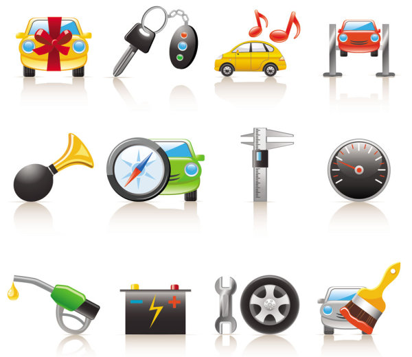 6 Cartoon Cars Icons Images