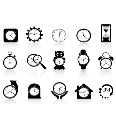 Free Clock Icon Vector