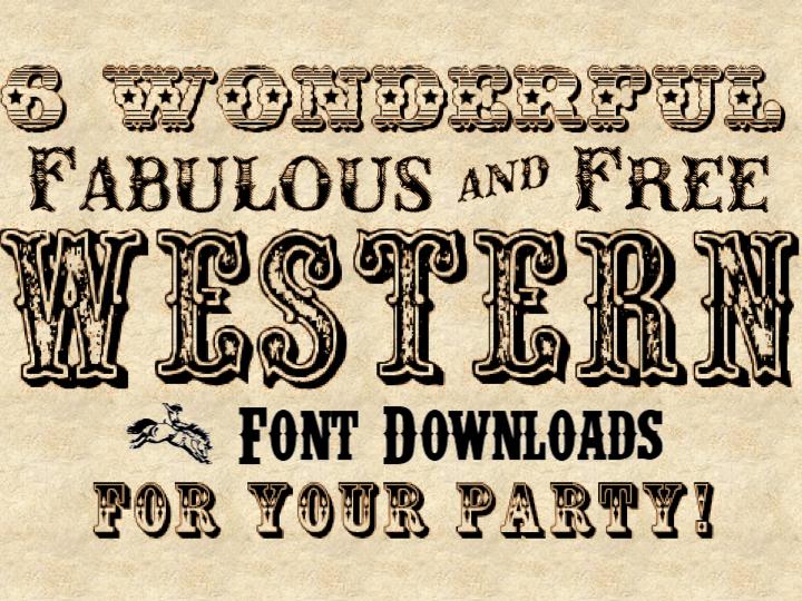 11 Western Cowboy Font Images
