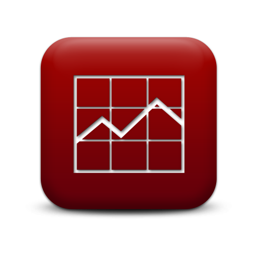 Free Graph Icon Red Square