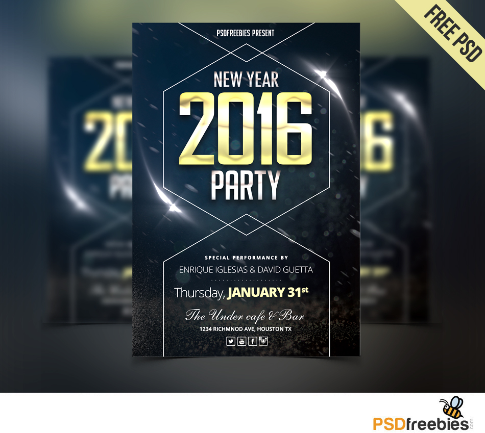 Free New Year's Party Flyer