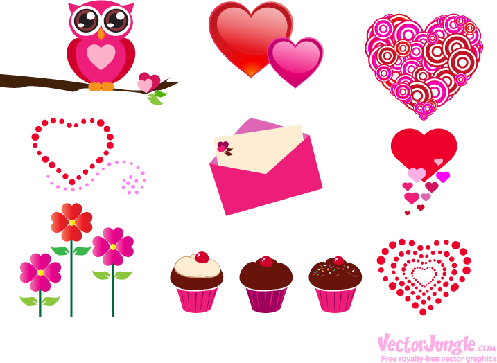 19 Valentine Vector Graphics Images