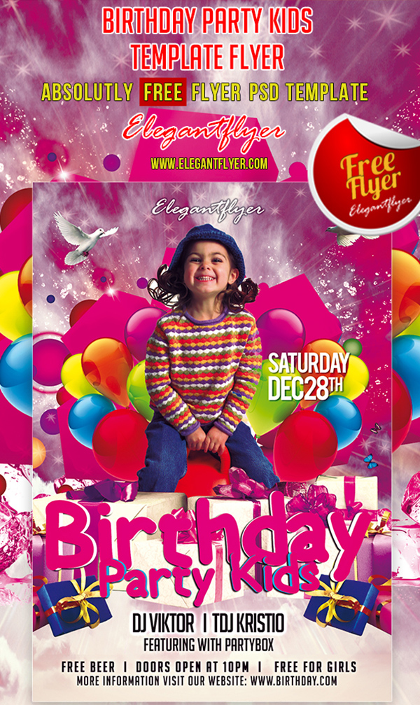 14 Download PSD Birthday Photo Images