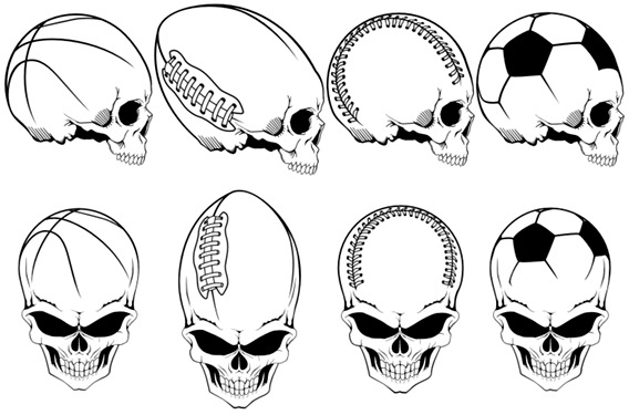 Free Skull Vector Art Football