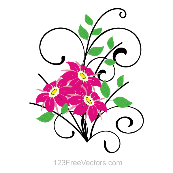 Free Vector Clip Art for Flower Bouquets