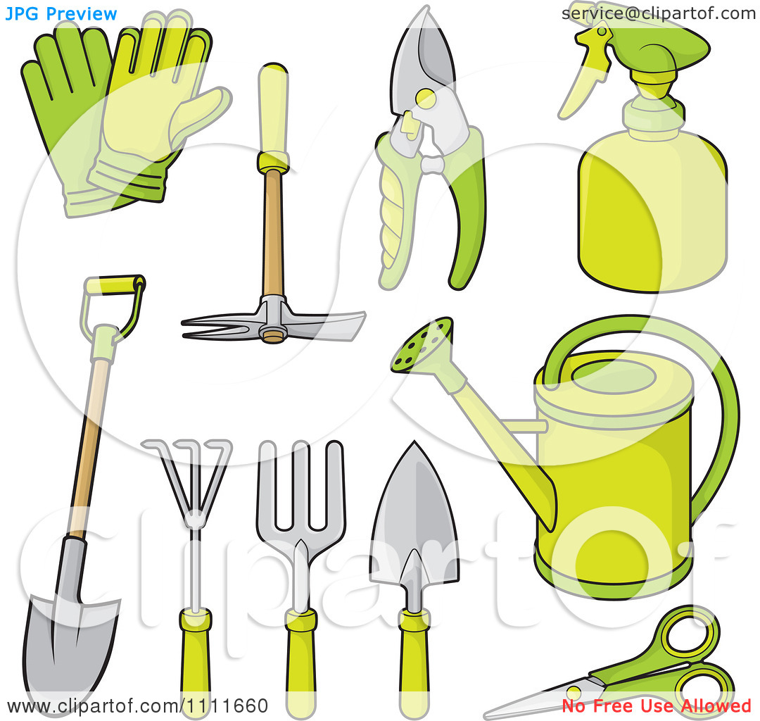 Gardening tools and equipment clipart for Gardening tools clipart