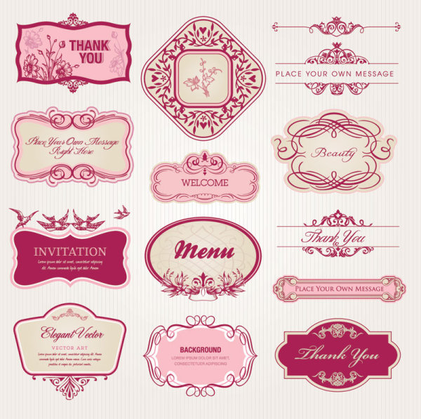 18 Label Design Vector Images - Free Vintage Label Template