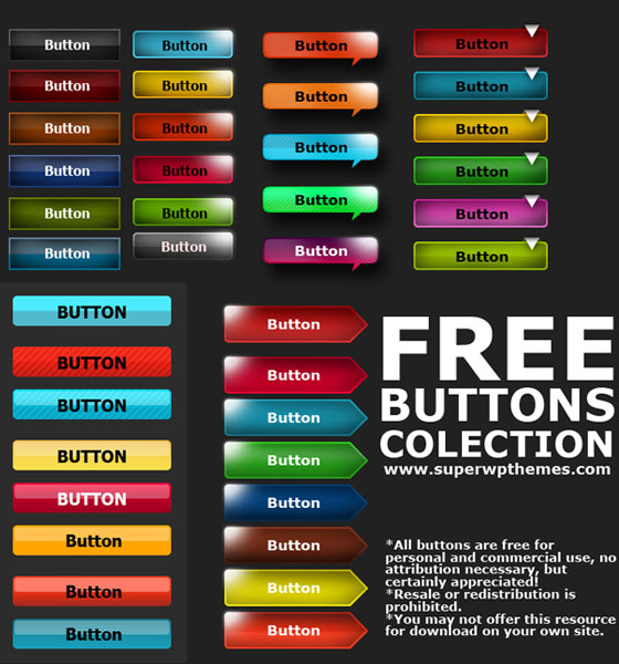 12 Free PSD Web Button Collection Images