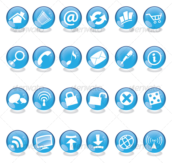 Free Web Icons Blue