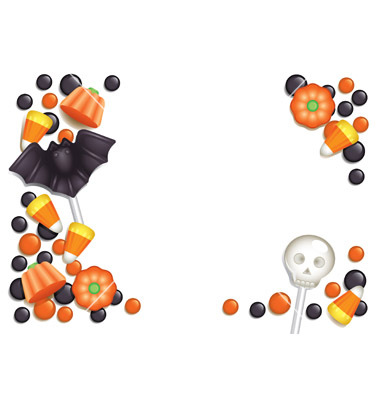 Halloween Candy Border Clip Art