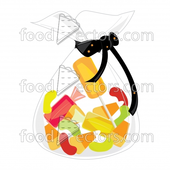 Halloween Plastic Candy Bags