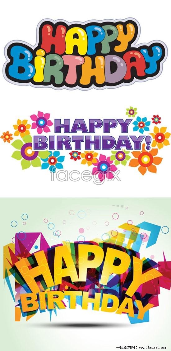 Happy Birthday Font Design