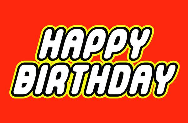 Happy Birthday LEGO Font