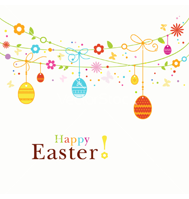15 Happy Easter Borders Vector Images