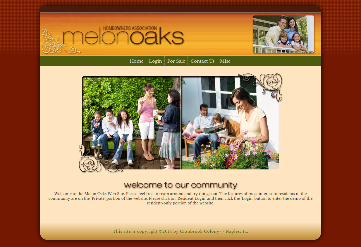 homeowners association website templates