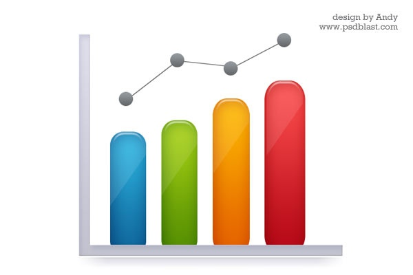 11 Business Graph Icon Vector Resources Images