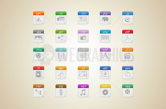 12 Document Type Icons Images