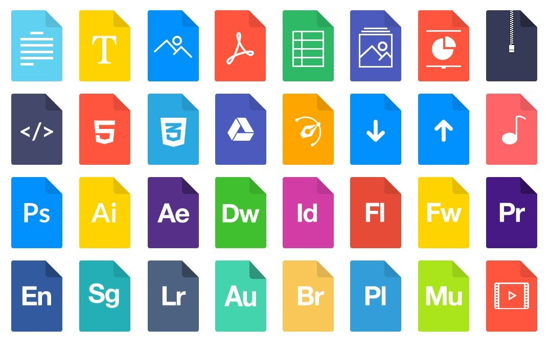 16 File Type Icons Images