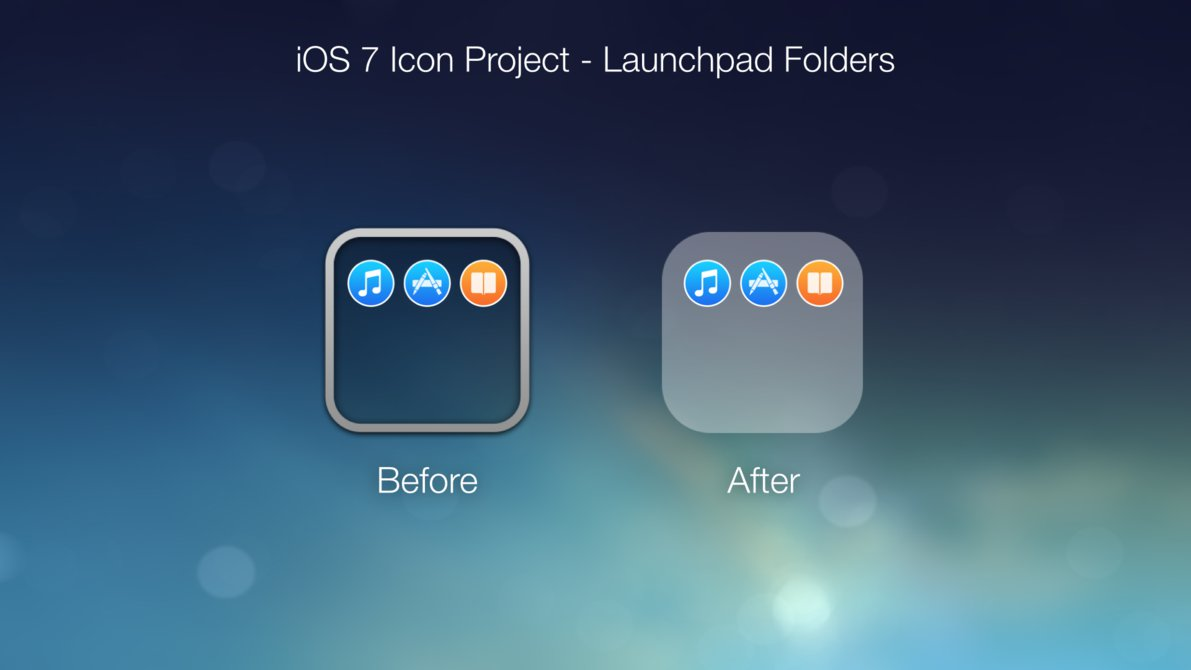 19 IOS 7 Icon Folder Images