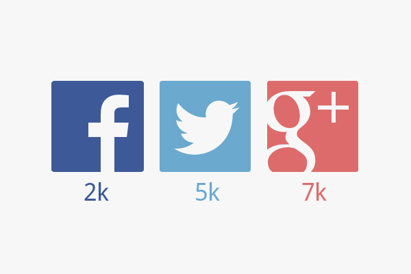 Large Social Media Icons