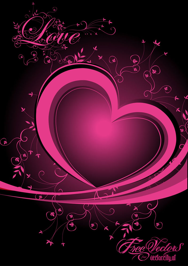 Love Heart Vector Free