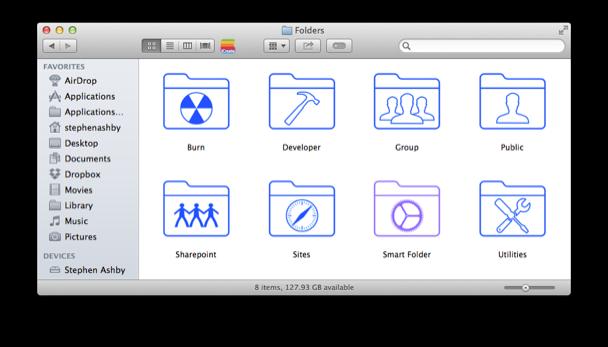 Mac Folder Icons iOS