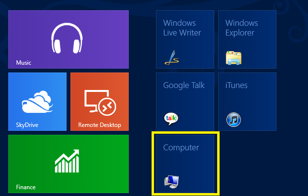 12 My Computer Icon Windows 8 Images